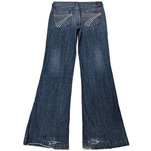 7 For All Mankind Dojo 28X32.5 Flare Cotton Jeans